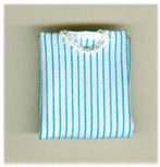 Ladies' folded striped blouse